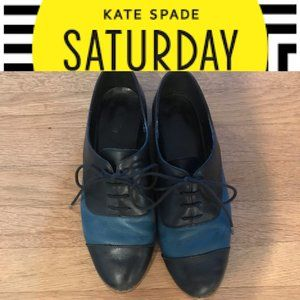 Kate Spade Leather Oxford Lace Shoes